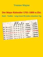 Der Maya-Kalender 1701-1800 n.Chr.