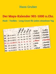 Der Maya-Kalender 901-1000 n.Chr.: Haab - Tzolkin - Long Count für jeden einzelnen Tag