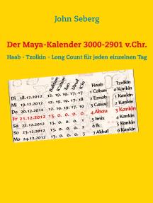 Der Maya-Kalender 3000-2901 v.Chr.: Haab - Tzolkin - Long Count für jeden einzelnen Tag