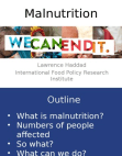 We can end malnutrition Free download PDF and Read online
