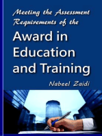 Meeting the Assessment Requirements of the Award in Education and Training
