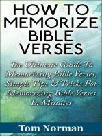 How To Memorize Bible Verses