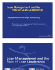 Study on Role of Lean Leadership