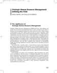 Study on Strategic Human Resource Management (SHRM)