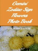 Gemini Zodiac Sign Flowers Photo Book