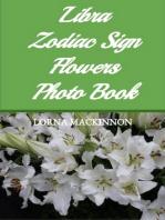 Libra Zodiac Sign Flowers Photo Book