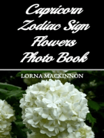Capricorn Zodiac Sign Flowers Photo Book