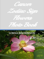 Cancer Zodiac Sign Flowers Photo Book