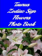 Taurus Zodiac Sign Flowers Photo Book