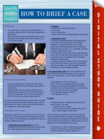 How To Brief A Case (Speedy Study Guides)