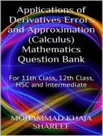 Applications of Derivatives Errors and Approximation (Calculus) Mathematics Question Bank