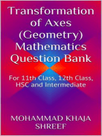 Transformation of Axes (Geometry) Mathematics Question Bank