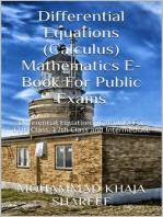 Differential Equations (Calculus) Mathematics E-Book For Public Exams