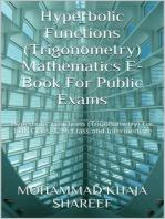 Hyperbolic Functions (Trigonometry) Mathematics E-Book For Public Exams