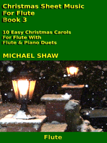 Christmas Sheet Music For Flute: Book 3