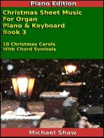 Christmas Sheet Music For Organ Piano & Keyboard Book 3