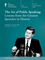 Art of Public Speaking (Transcript)