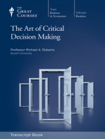 Art of Critical Decision Making (Transcript)