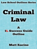 Criminal Law (Law School Outlines, #1)