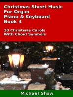 Christmas Sheet Music For Organ Piano & Keyboard Book 4