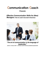 Effective Communication Skills for (New) Managers