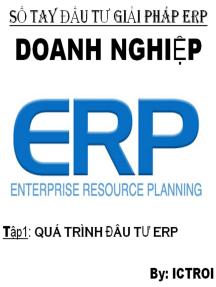 Quá Trình Đầu tư: Sổ Tay Đầu Tư Giải Pháp ERP ở Doanh Nghiệp