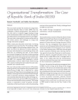 Case Study on Republic Bank of India (REBI) - Organizational Transformation