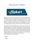 Marketing Mix of Flipkart