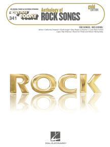 Anthology of Rock Songs - Gold Edition (Songbook): E-Z Play Today #341
