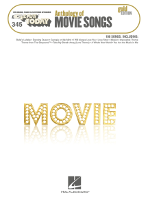 Anthology of Movie Songs - Gold Edition (Songbook): E-Z Play Today #345