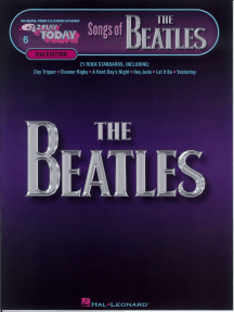 Songs of the Beatles (Songbook): E-Z Play Today Volume 6