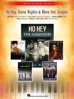 Ho Hey, Some Nights and 3 More Hot Singles: Pop Piano Hits Series Simple Arrangements for Students of All Ages