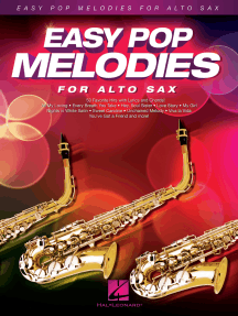 Easy Pop Melodies: for Alto Sax