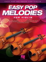 Easy Pop Melodies: for Violin