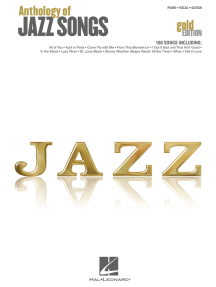 Anthology of Jazz Songs - Gold Edition (Songbook)