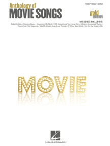 Anthology of Movie Songs - Gold Edition (Songbook)