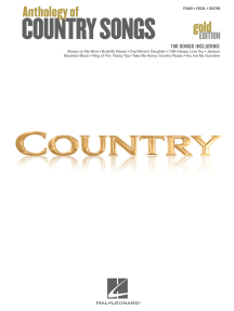 Anthology of Country Songs - Gold Edition (Songbook)