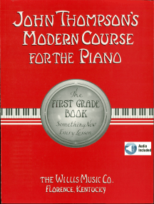 John Thompson's Modern Course for the Piano - First Grade (Book/Audio): First Grade - Book/Audio