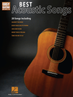 Best Acoustic Songs for Easy Guitar: Easy Guitar with Notes and Tab