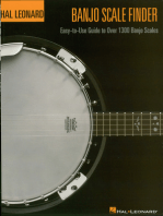 Banjo Scale Finder - 9 inch. x 12 inch.: Easy-to-Use Guide to Over 1,300 Banjo Scales