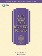 Easy Songs for the Beginning Soprano: With companion recorded piano accompaniments