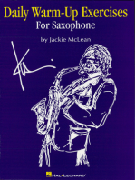Daily Warm-Up Exercises for Saxophone