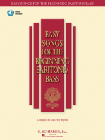 Easy Songs for the Beginning Baritone/Bass