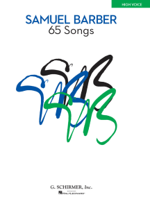 65 Songs: High Voice Edition