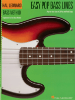 Easy Pop Bass Lines: Supplemental Songbook to Book 1 of the Hal Leonard Bass Method