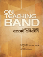 On Teaching Band: Notes from Eddie Green