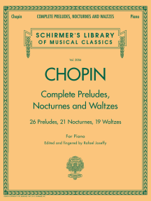 Complete Preludes, Nocturnes & Waltzes: Schirmer Library of Classics Volume 2056
