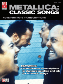 Metallica: Classic Songs for Guitar: Note-for-Note Transcriptions with DVD