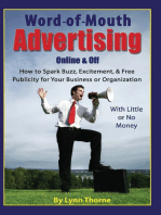 Word-of-Mouth Advertising Online and Off