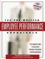 199 Pre-Written Employee Performance Appraisals